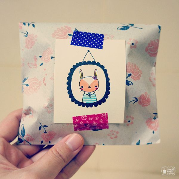 Doodle A One-Of-A-Kind Gift Topper. Attach with Washi Tape. Voila!