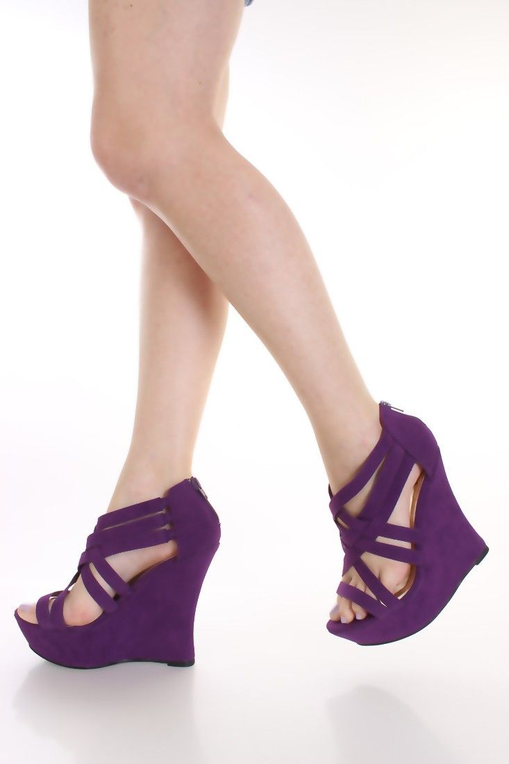 ... wholesale price d0c25 7901c purple sandals and wedges ... wedges be the  first to ... d50cf63dcf