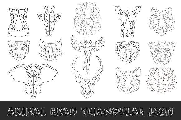 Animal low poly head icon by RAINBOWIRMA on Creative Market