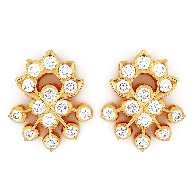 Designer Diamond Ear Studs Black Beaded Jewelry Diamond Earrings Studs Gold Earrings Designs