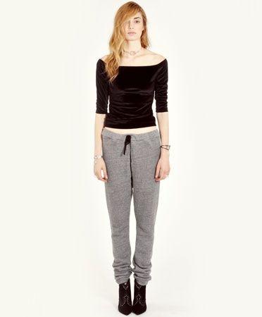 Draped Grey Sweatpants