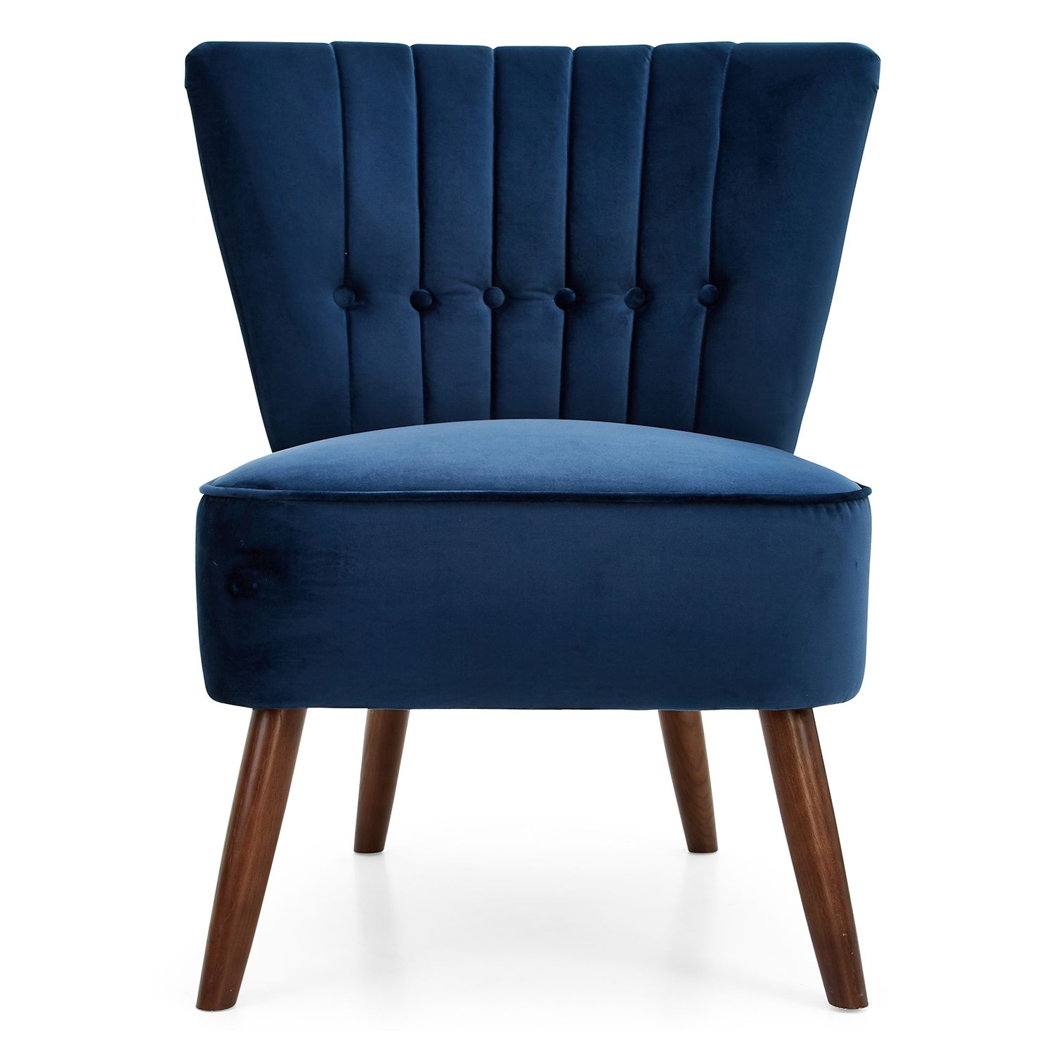 Isla velvet button back cocktail chair next day delivery isla velvet button back cocktail chair from worldstores everything for the home