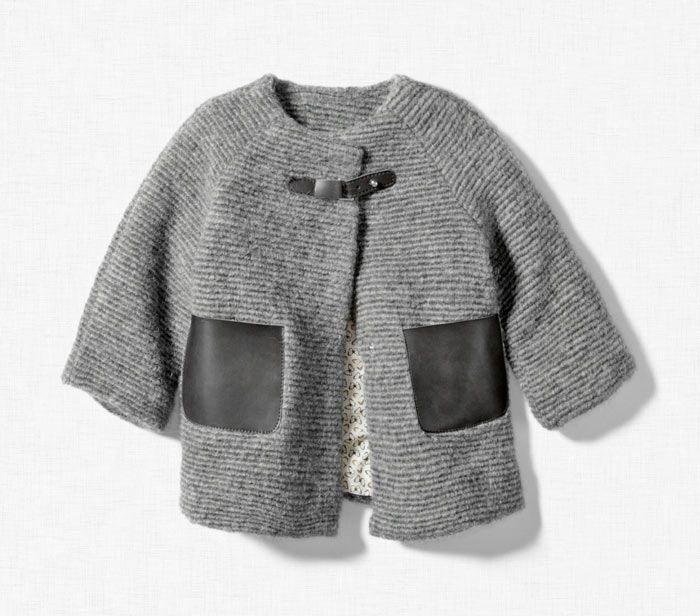 87ba7467f Abrigo corto Zara para bebé Otoño Invierno 2011 2012 | Punto ...