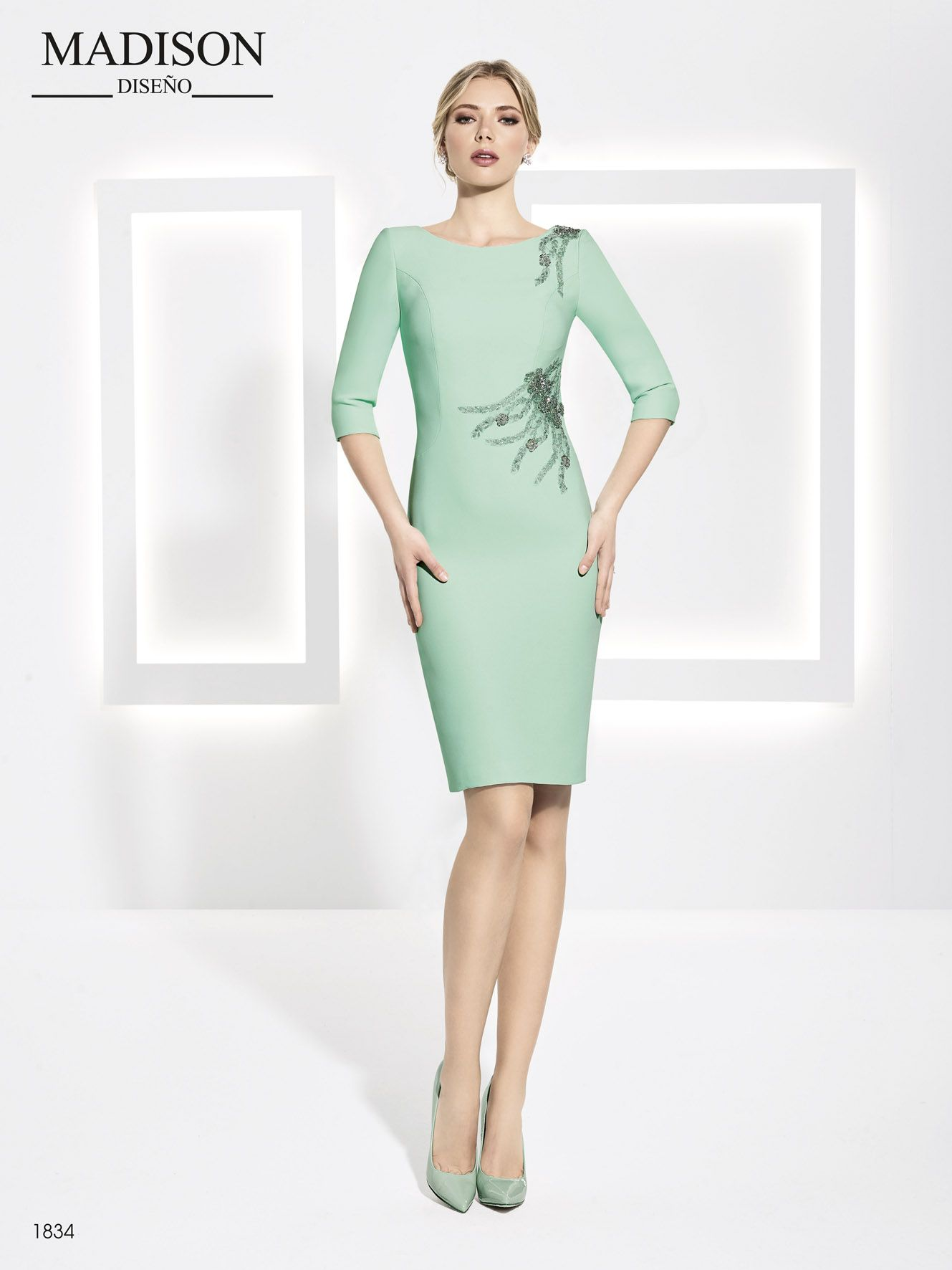 d5f31bcdbe vestido de fiesta color verde madison