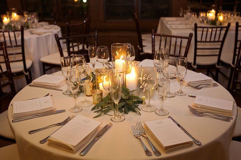 Wedding Reception At Non Floral Centerpieces Wedding Reception