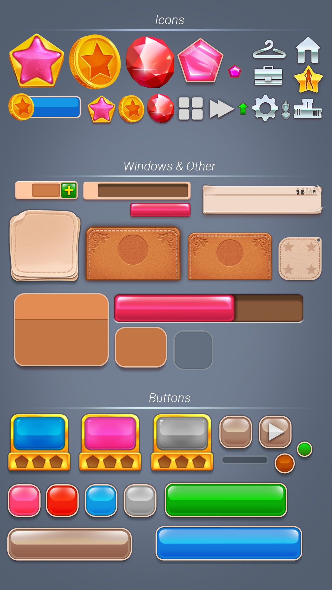 GUI elements 4 mobile game