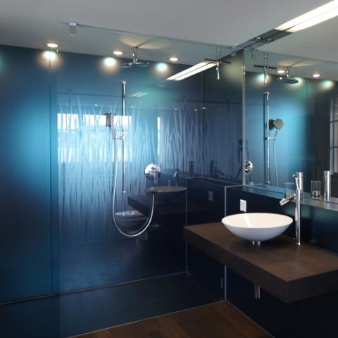 duschtrennwand und wandverkleidung aus glas glasduschen pinterest glas duschtrennwand. Black Bedroom Furniture Sets. Home Design Ideas