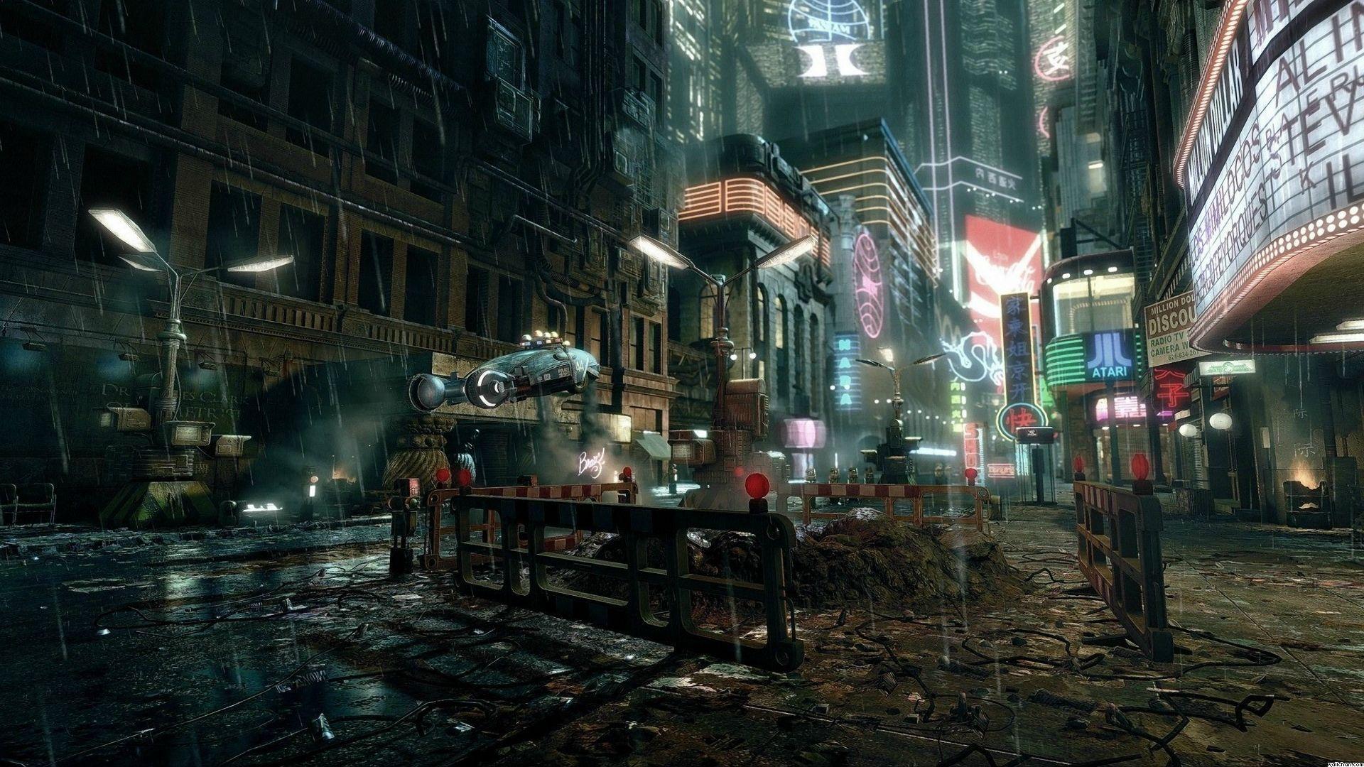 CYBERPUNK scifi game city f wallpaper x