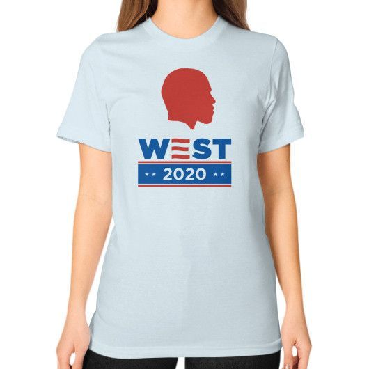 Kanye West 2020 Silhouette - Unisex T-Shirt (on woman)
