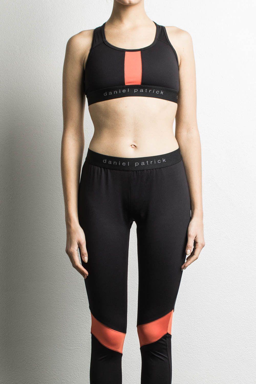 trail sport bra   black + orange designer streetwear womens sports ... a8240f1a7e