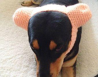 Dog Ear Warmer Hat Crochet Dog Headband Dog Hats For Dogs