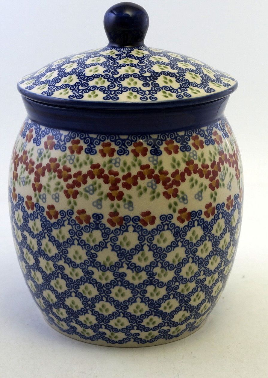 3 Liter Canister Ring Around The Rosie Polish Pottery Polish