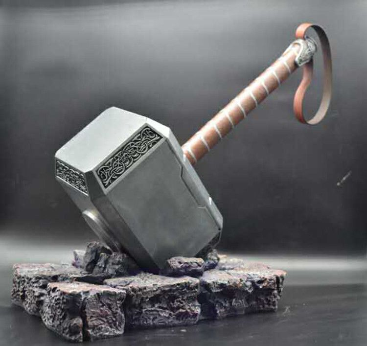 captain america shield thor hammer replica cosplay resin stand