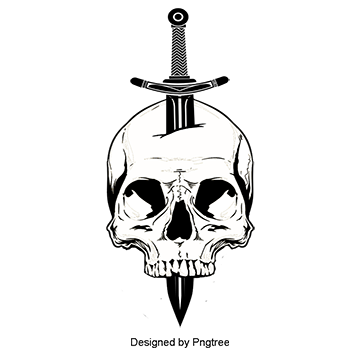 Skull Sword Inserted In The Vector Skull Clipart Set Business Png And Vector With Transparent Background For Free Download Skulls Drawing Skull Art Skull Drawing