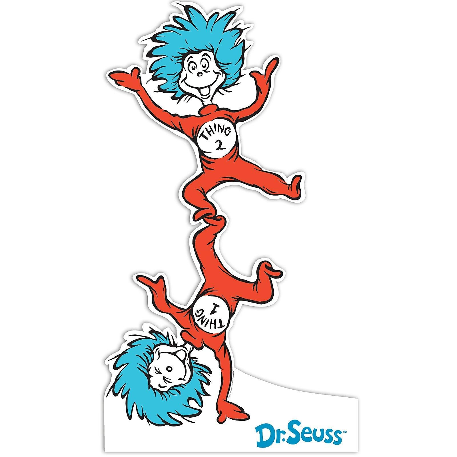 dr seuss coloring pages thing 1 and