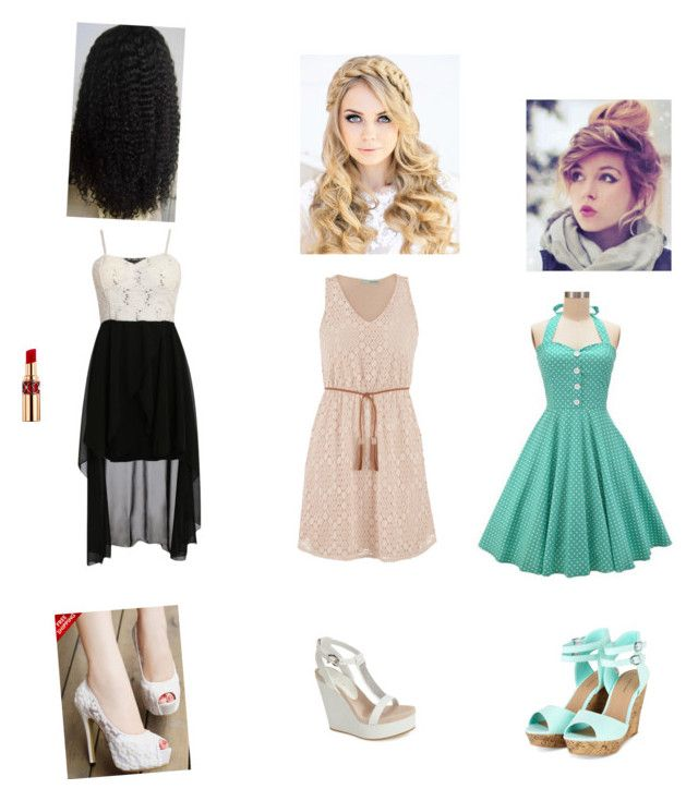 """""""summer dresses"""" by auderyjenkins ❤ liked on Polyvore featuring maurices, Lola Cruz and Yves Saint Laurent"""