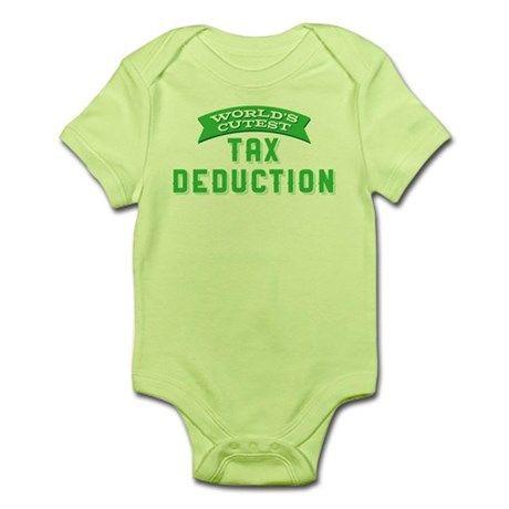 4c430c5ad1b83 World's Cutest Tax Deduction Baby Light Bodysuit | Gift ideas | Tax ...