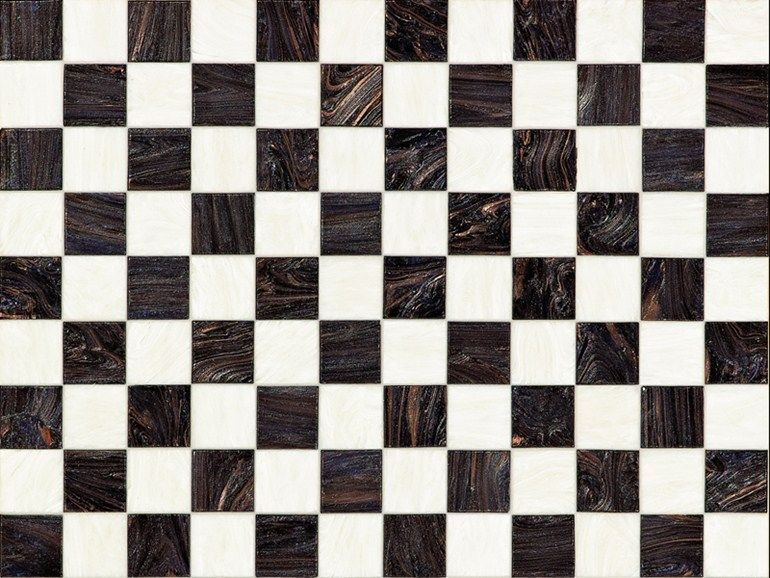 Glass mosaic CHECKMATE Mosaico Collection by BISAZZA Mosaico | design Carlo Dal Bianco