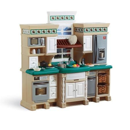 Step 2 Deluxe Kitchen Walmart Com Play Kitchen Sets Kids Toy Kitchen Kids Play Kitchen