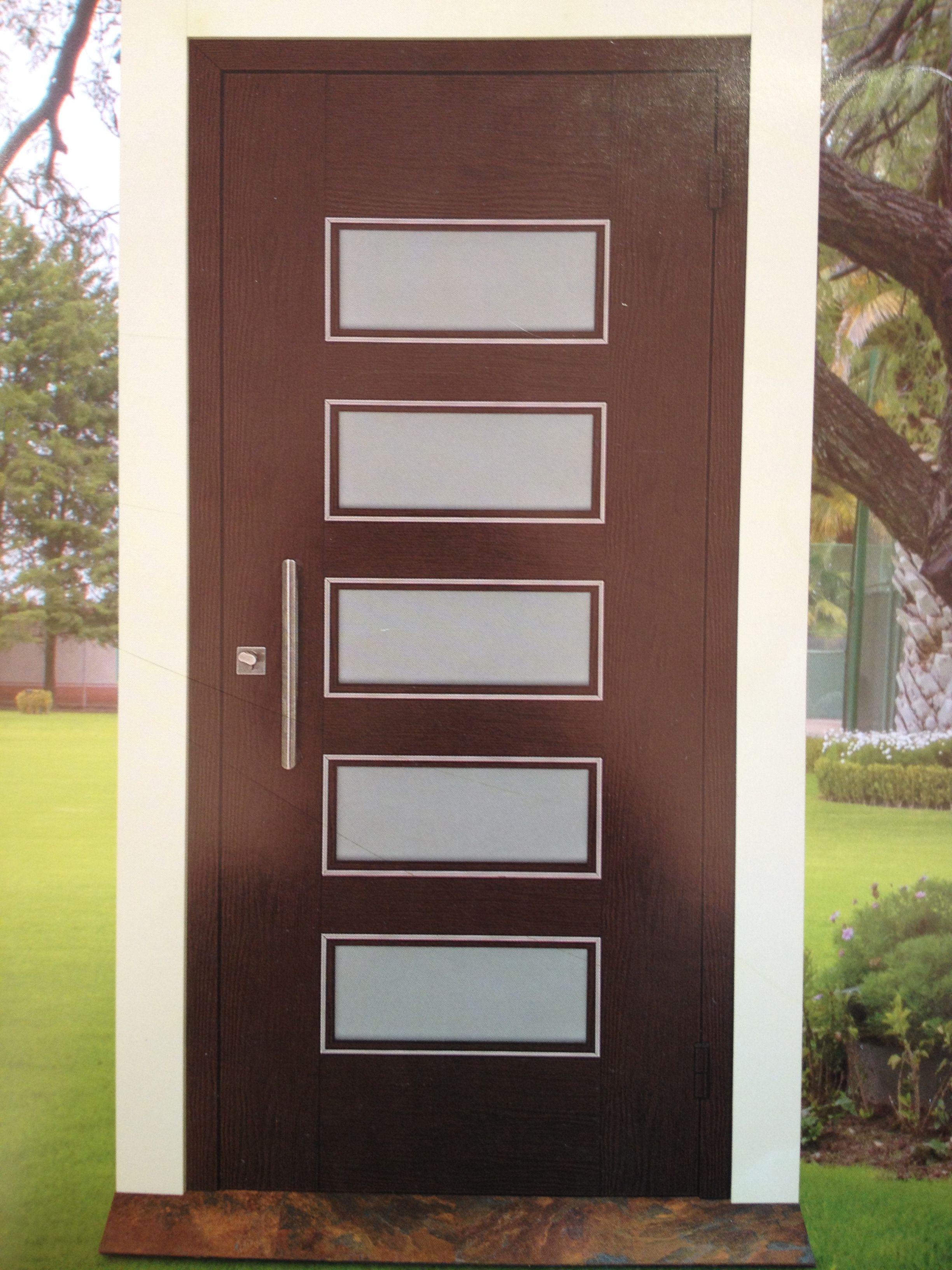 fotos de puertas principales de madera modernas Puertas Entrada Principal Con Cristal Y Reja Buscar Con Of
