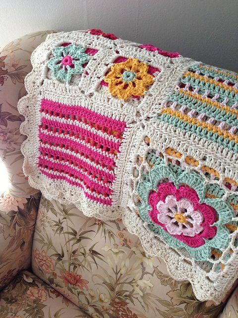 Orange Blossom Crochet Blanket Free Pattern Lots Of Ideas