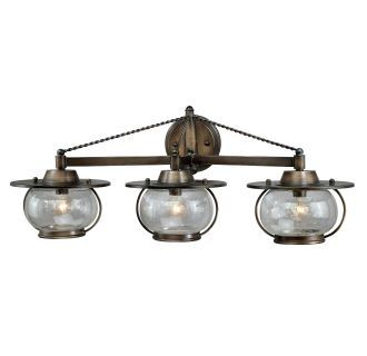 Photo of Vaxcel Lighting W0018 Parisian Bronze Jamestown 3 Light Bathroom Vanity Light – 27.25 Inches Wide