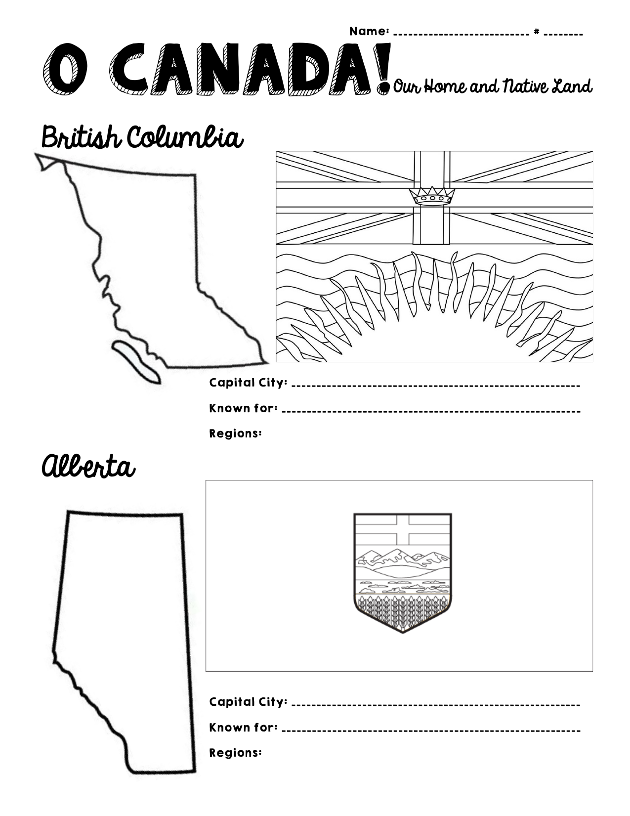 O Canada Provinces And Territories Resource Preview
