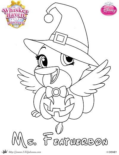 Printable Halloween Coloring Page of Ms Featherbon from Whisker - new zootopia coloring pages free