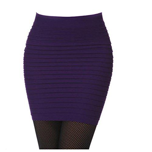 Lady Striped Above Knee OL Clubwear Short Pencil Skirt purple -- Want to know more, click on the image.