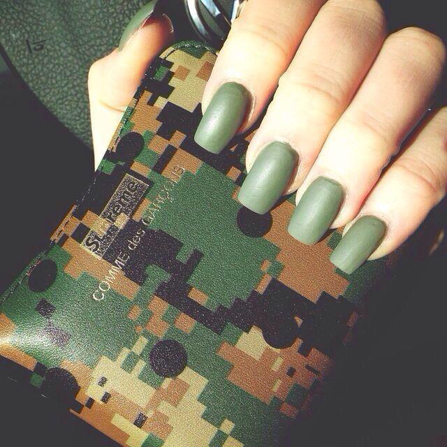 Matte army green | Nails | Pinterest | Army green, Nail nail and ...