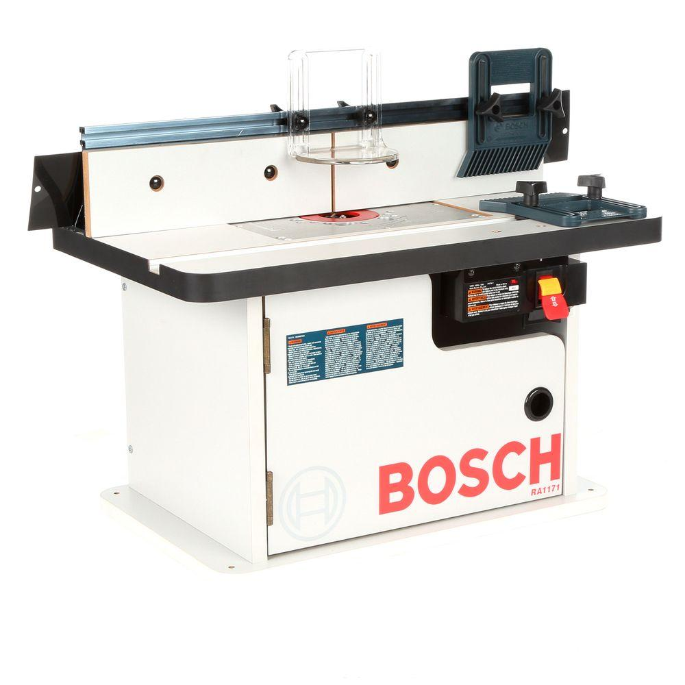 Bosch Benchtop Laminated Router Cabinet Style Table With 2 Dust Collection Ports 9 Piece Cabinet Styles Router Table Router