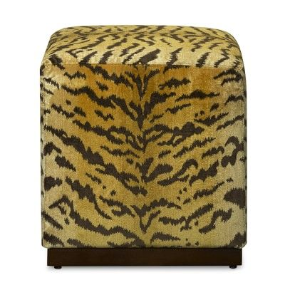 """Robertson Cube in Scalamandre Tiger 21"""" sq x 19"""" h   $1595"""