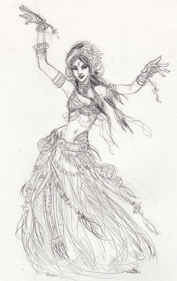 Jenspiration Tribal Belly Dancing Dancing Drawings Dance Art Dancers Art