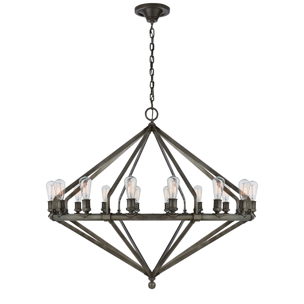 Archer Extra Large Chandelier In Stee