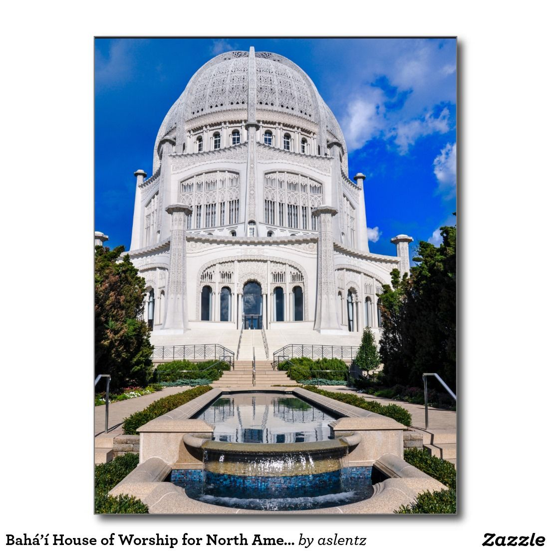 Bahá'í House of Worship for North America Postcard ♥ Repinned by Annie @ www.perfectpostage.com