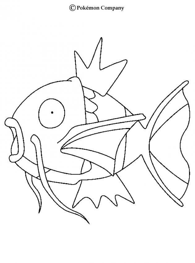 Magikarp Pokemon coloring page. More Water Pokemon ...