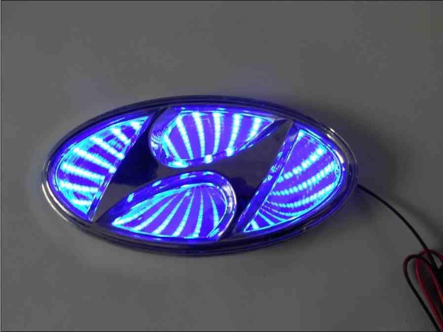 Led Illuminated Car Badge Light Emblems Visit Www Haloledlighting Co Uk For All Your Car Lighting Needs Hyundai Car Badges Led Logo