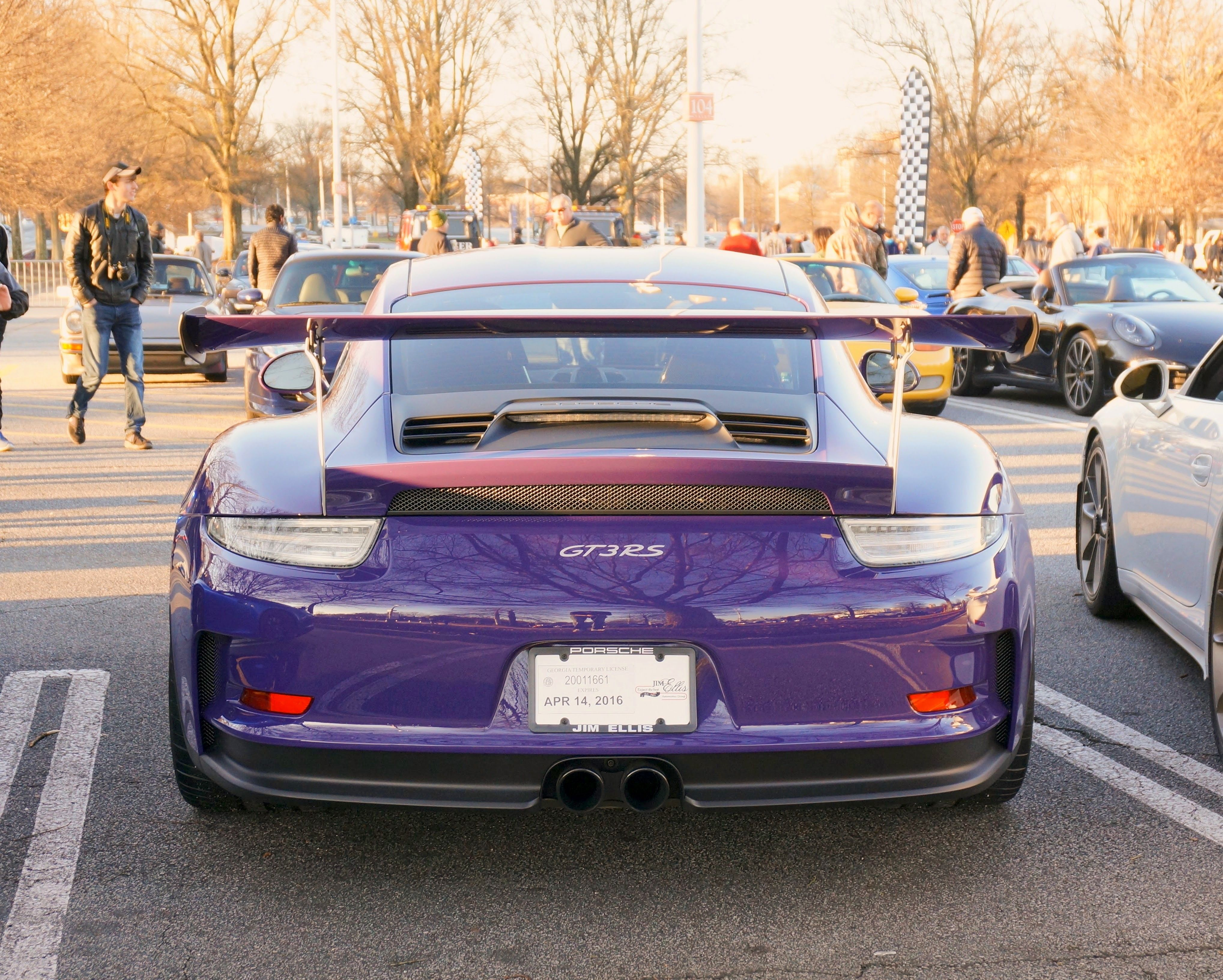 New Ultraviolet GT3 RS From Behind HD Wallpaper From Gallsourcecom