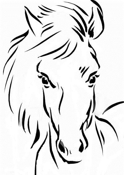 Horse Head Coloring Page Apigramcom