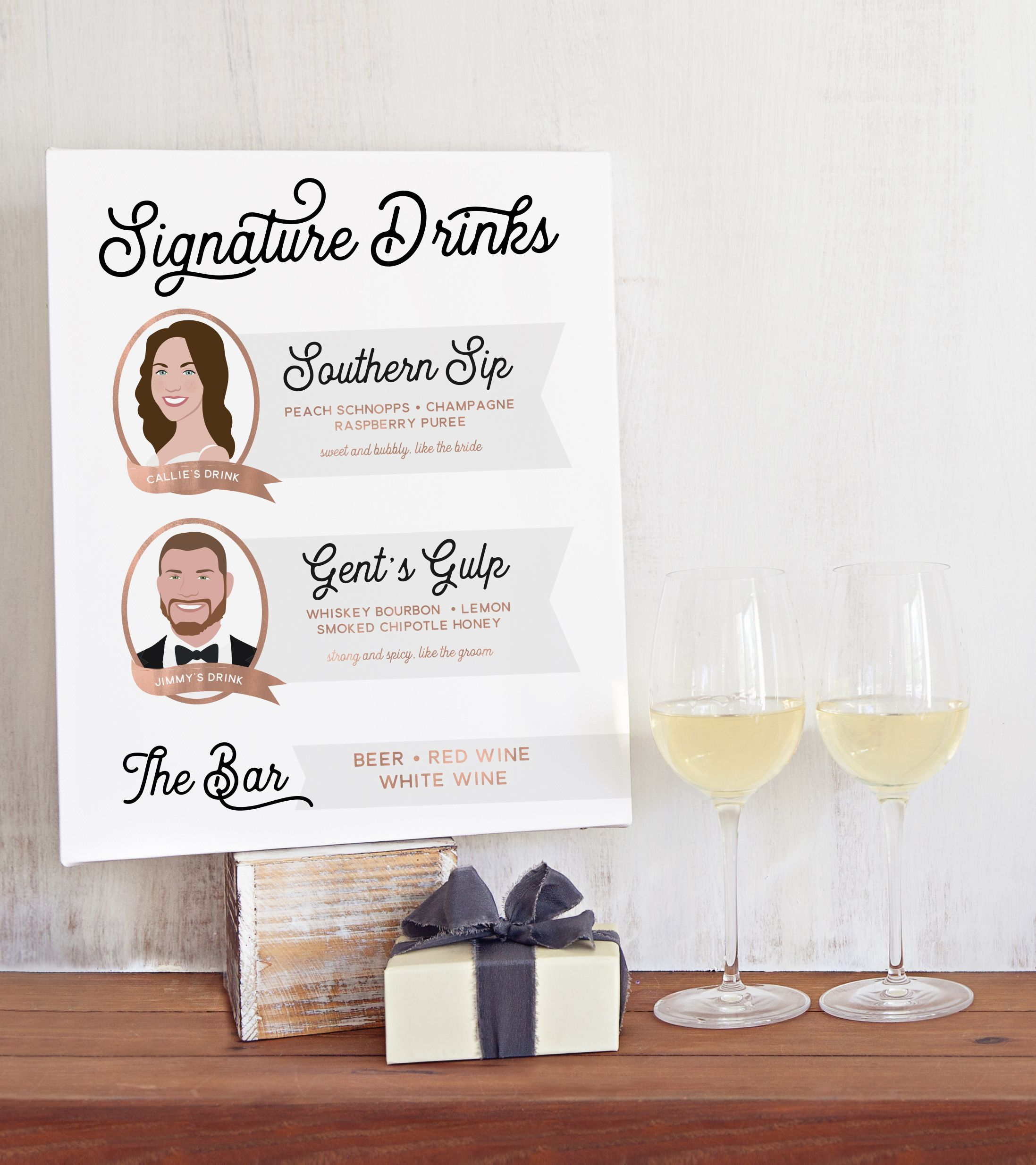 Bride and Groom\'s Signature Drinks Sign | Drink signs, Weddings and ...