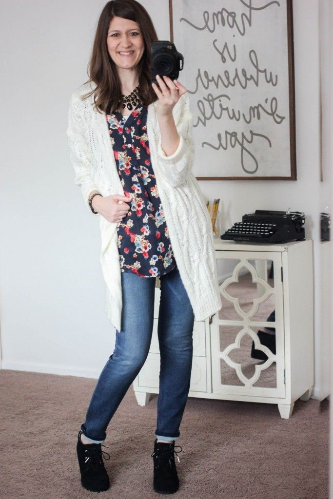 I love the boots, shirts and the sweater. Jardina Cable Knit Open Cardigan from En Crème - February Stitch Fix