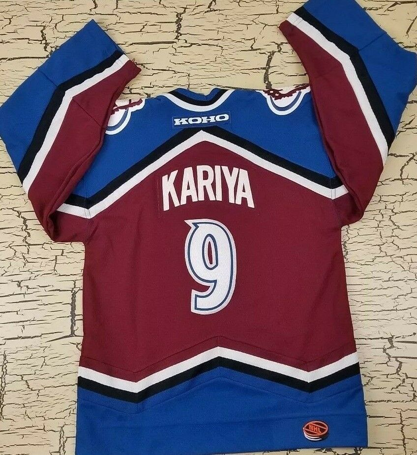 wholesale dealer 3195c 8ba5f NHL Kariya Koho Colorado Avalanche Youth Hockey Jersey S/M ...