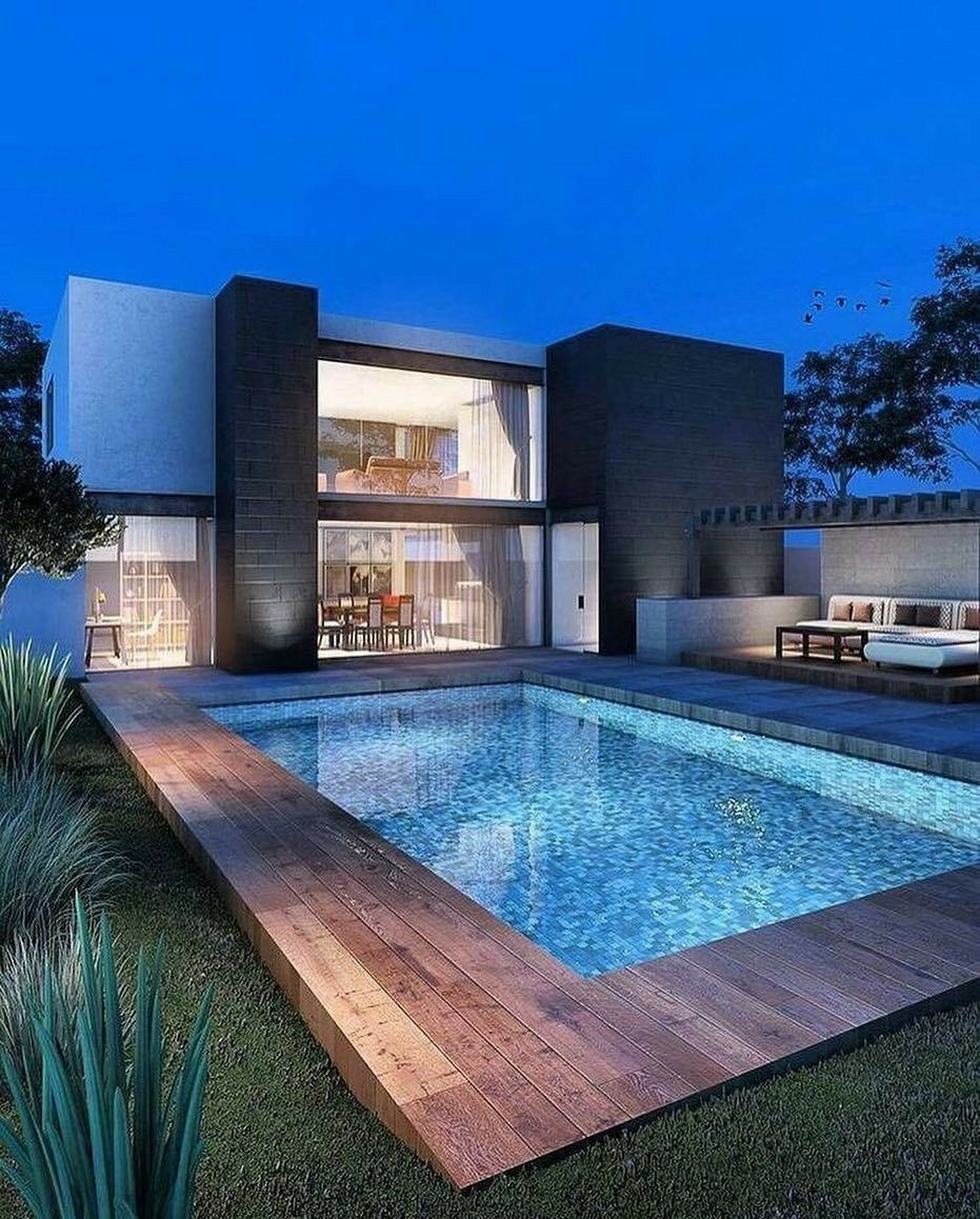 Backyard Swimming Pool Swimming Pool Designs Backyard Designs Pool Swimming Swimmingpooldes In 2020 Schwimmbader Hinterhof Inground Pool Designs Moderne Pools