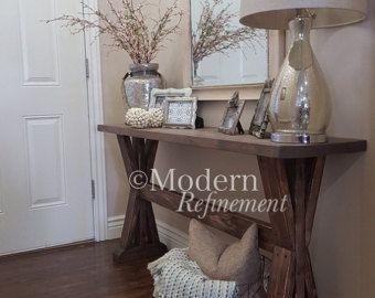 superbe table d entr e la main ferme rustique table de canap table de buffet juste la. Black Bedroom Furniture Sets. Home Design Ideas