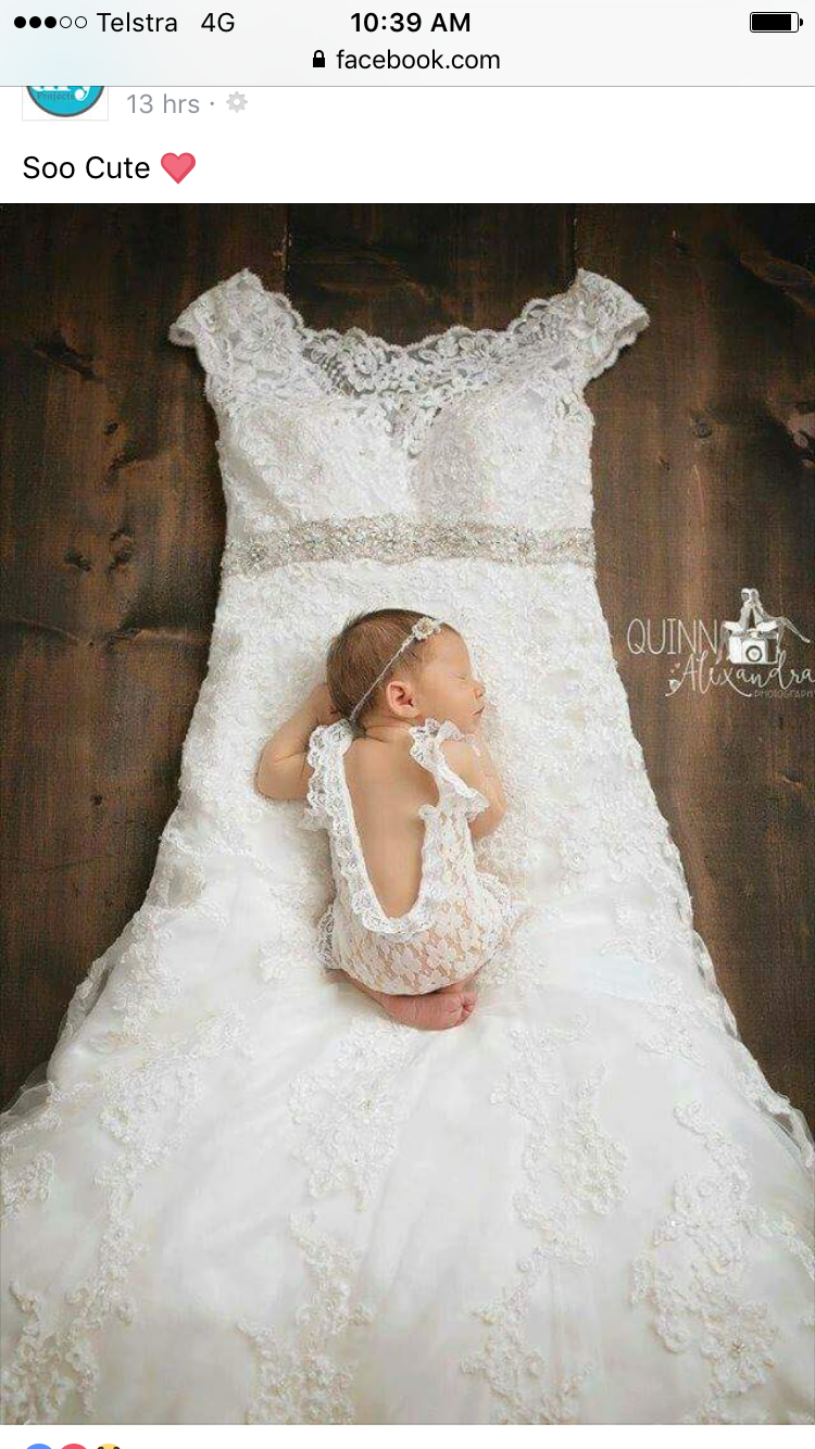 90253562f635 Pin by Gina Wong on Newborn babies | Wedding dresses for girls, Baby ...