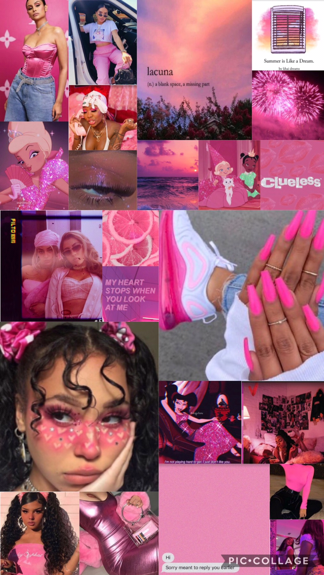 Hot Pink Aesthetic Wallpaper In 2020 Pink Aesthetic Iphone Wallpaper Girly Cute Patterns Wallpaper