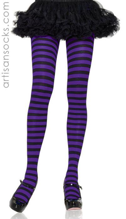 striped Black and hosiery purple