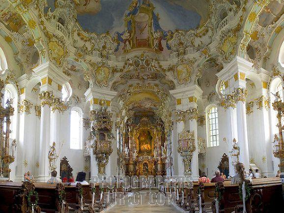 German rococo churches interior of wieskirche rococo for French baroque interior