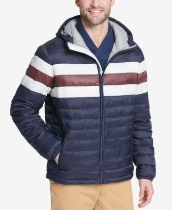 bbec5332b38140 Tommy Hilfiger Men s Big   Tall Colorblocked Hooded Ski Coat ...