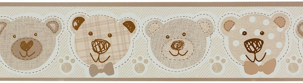 Brown Teddy Bear Slightly Textured Wallpaper Border Apply With Wallpaper Paste Wallpaper Border We Have A Great Range On Wallpaper Borders Sticky Back Pla